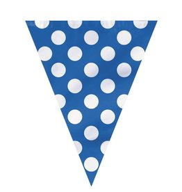 Blue Polka Dot Pennants