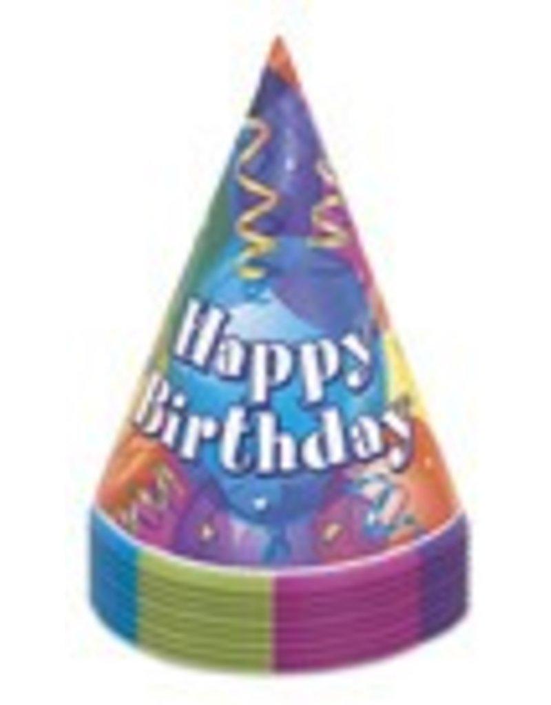 8 Ct Happy Birthday Hats