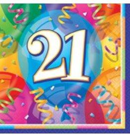 Birthday Jubilee 21st Lunch Napkin