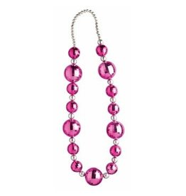 Pink Silver Large Beads