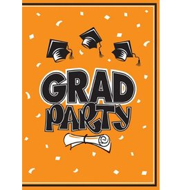 Orange Graduation Invitations