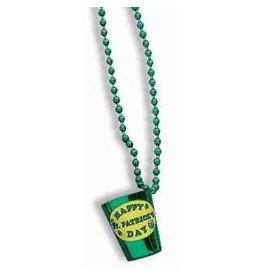 St Pat Shot Glass Bead
