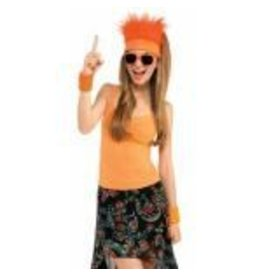 Fur Headband Orange