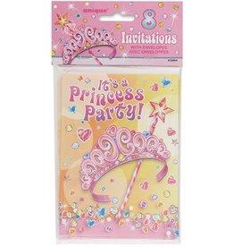 Princess Party Invitations 8 Ct
