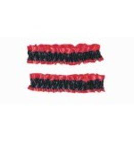 Black & Red Garters 2 pack