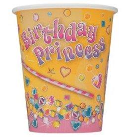 Birthday Princess Cups 8 CT