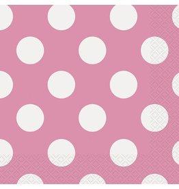 Hot Pink Polka Dot Luncheon Napkin