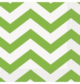 Lime Chevron Luncheon Napkin 16 CT