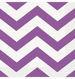 Purple Chevron Beverage Napkin 16 CT