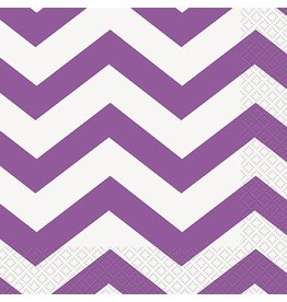 Purple  Chevron Luncheon Napkin 16 CT