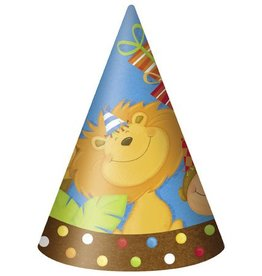 Jungle Party Hats 8 CT