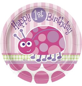 "1st Birthday Lady Bug 7"" Plate"