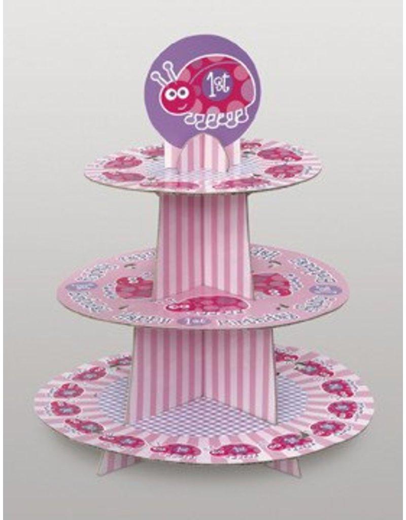1st Birthday Lady Bug Cupcake Tree