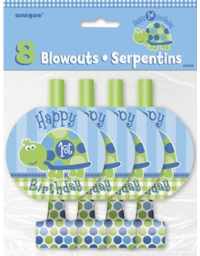 1st Birthday Turtle Blowouts 8 CT