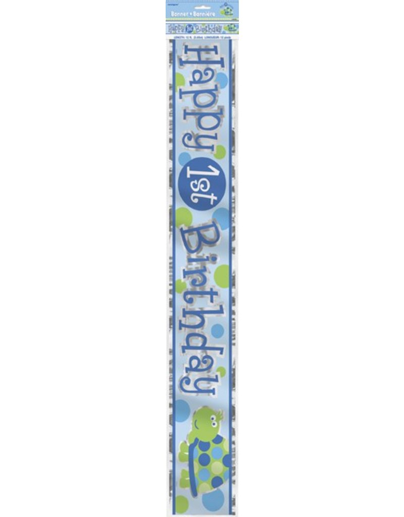 1st Birthday Turtle Banner