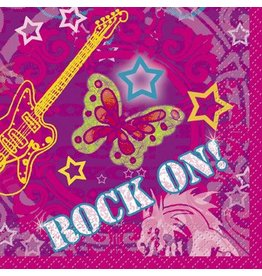 Rock On Beverage Napkin 16 CT