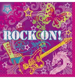 Rock On Lunch Napkin 16 CT