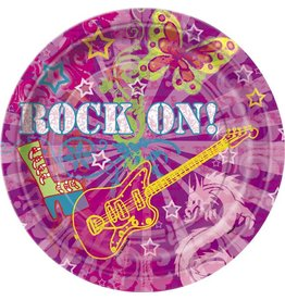 "Rock On 9"" Plate 8 CT"