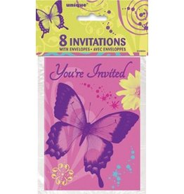 Butterfly Invitations 8 CT