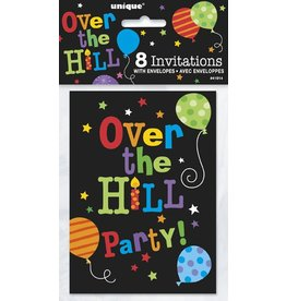 Over The Hill Balloons Invitations 8 CT