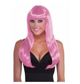 Long Wig Pink