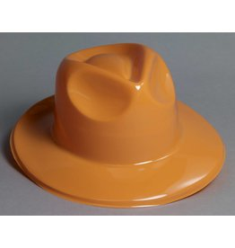 Plastic Fedora Orange