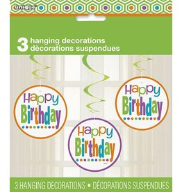 Birthday Dots Hanging Decorations