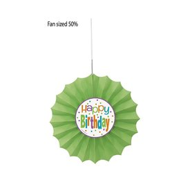 Birthday Dots Tissue Fan