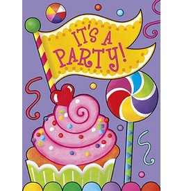 Candy Party Invitations 8 CT