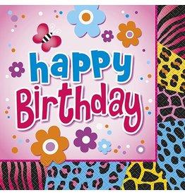 Wild Birthday Luncheon Napkin 16 Ct