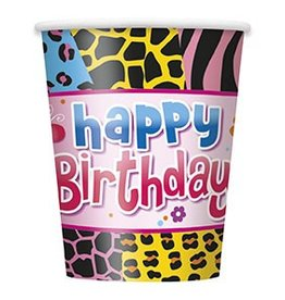 Wild Birthday Cups 8 CT