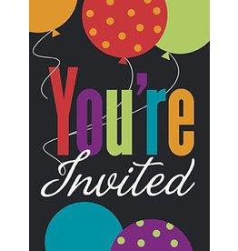 Birthday Cheers Invitations 8 CT