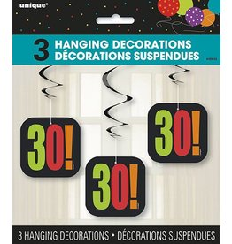 Happy 30th Birthday Hanging Decorations