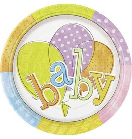 Baby Colors 9' Plates 8 Ct