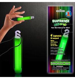 """Glow Stick 4"""" & lanyard Green"""
