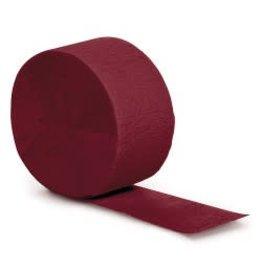 Crepe Paper Streamers 81' Burgundy
