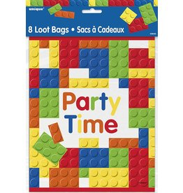 Building Block Loot Bags 8 CT