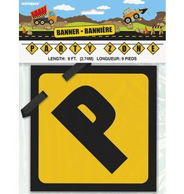 Construction Party Banner