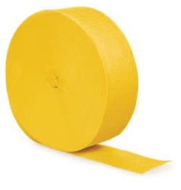 Crepe Paper Streamers 500' School Bus Yellow
