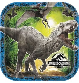 "Jurassic World 9"" Plate 8 Ct"