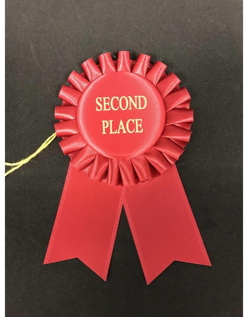 2nd Place Short Rosette Ribbon