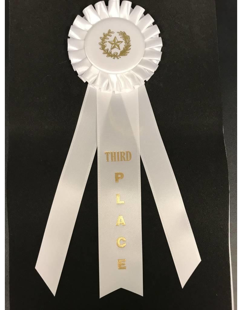 3rd Place Long Rosette Ribbon