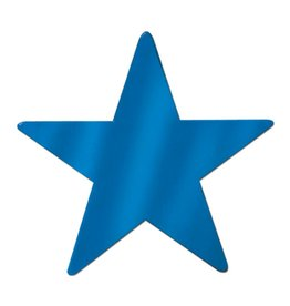Blue Foil Star Cutout - 9""