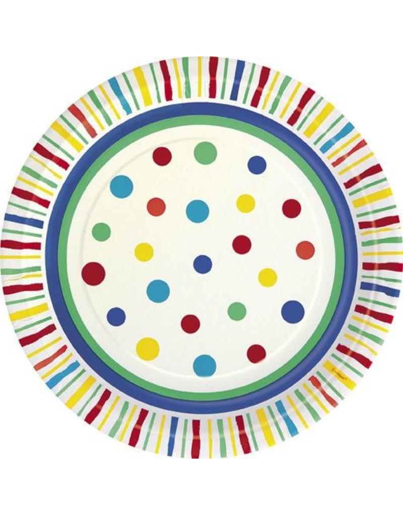 """7"""" Plates Color Burst 8 count"""
