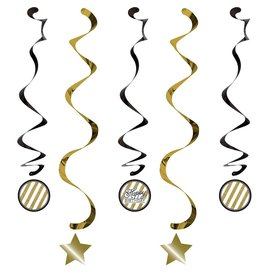 Dizzy Danglers Black & Gold 3 count