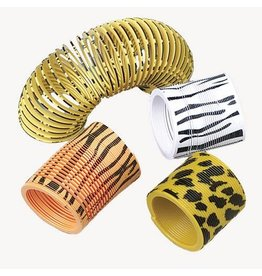 Mini Coil Springs 12 pieces Animal Print