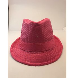Sequin Fedora Pink Lite Up