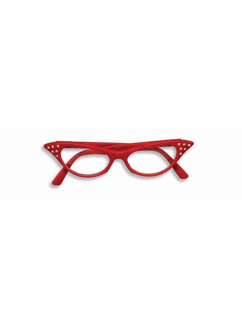 50's Glasses Red