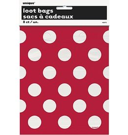 Polka Dot Loot Bags Red