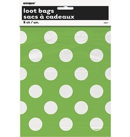 Polka Dot Loot Bags Lime